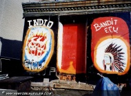 Murales of bikers in bronx | Indio-Bandid | New York Murales