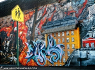A city painted on the wall | City | New York Murales