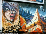 A terriefied woman | Shining | New York Murales