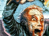 A terriefied man | Shining | New York Murales