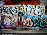 Written on a wall an me in front of a door | Wall | New York Murales