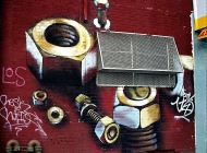 Bolts, maybe for to advertise of the presence of an ironmonger | Bolts | New York Murales