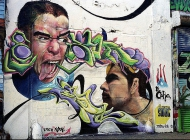 Two faces | Faces | New York Murales