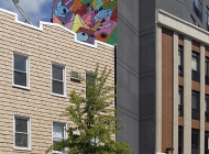 A geometric murales over a house | Geometry | New York Murales