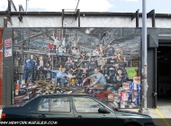 The murales representing the crew at work | SKYHIGH MURALS | New York Murales