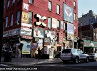 Advertising on a house near Bedford Avenue | Near Bedford Avenue | New York Murales