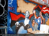 Cuban flags and people asking for freedom | Asking for freedom | New York Murales