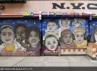 A long murales about children