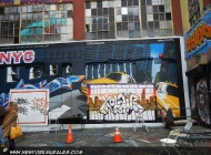 Xolair and some NYC taxis on the back | Long Island | 5 Pointz | New York Murales