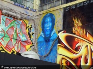 A blue mummy | Long Island | 5 Pointz | New York Murales