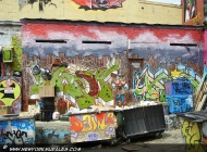 Paintings on the garbage bins and walls | Long Island | 5 Pointz | New York Murales