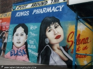Elisa and Selena. Two different and tragic deaths. Selena was a very famous singer, loved all around the US, and was killed for refusing the avances of her jelaous and lesbian manager at the top of her career | Elisa and Selena | New York Murales