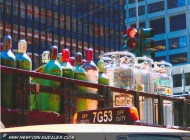 A truck trasporting bottle and oxygen | Transport | New York Murales