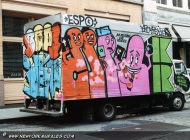 A van full of condoms | Van | New York Murales
